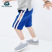 男童運動中褲夏季兒童純棉透氣休閒褲子短款