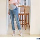 《MA0383》純棉高彈性刷色牛仔孕婦哈倫褲 OrangeBear