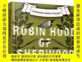 二手書博民逛書店英文原版罕見Robin Hood Of Sherwood Forest 舍伍德森林的羅賓漢Y21066 Sch