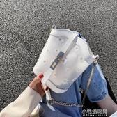 果凍小包包新款潮質感夏錬條斜背包包女包百搭ins超火單肩包  【快速出貨】