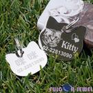 【Fulgor Jewel】富狗客製寵物吊牌 西德鋼材質 貓咪造型 免費雕刻單面(限文字)