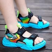 男童涼鞋2021年新款夏季中大童軟底防滑沙灘鞋兒童潮男孩鞋子小孩 幸福第一站