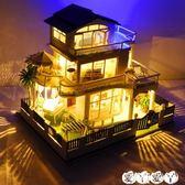 DIY小屋 天予diy小屋別墅溫哥華 手工創意房子模型拼裝男玩具生日禮物女生 【全館9折】
