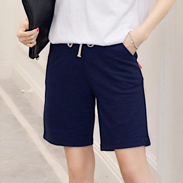 賞蝴蝶夏季中褲寬鬆休閒褲簡約直筒五分褲薄款純棉運動褲女士褲女