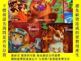 二手書博民逛書店TREASURES罕見MACMILLAN MCGRAW(1.1-1.2-1.3-1.4-1.5)五冊和售Y25