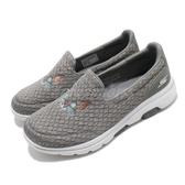 Skechers 休閒鞋 Go Walk 5-Cute Whiskers 灰 白 女鞋 貓咪 健走鞋 運動鞋【PUMP306】 124036GRY