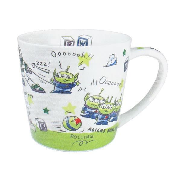 Hamee 日本正版 迪士尼 手繪風格 陶瓷馬克杯 咖啡杯 禮物 (玩具總動員 三眼怪) CY06699
