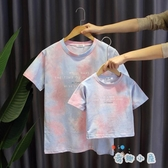 親子裝T恤韓版百搭母子母女短袖休閒上衣【奇趣小屋】