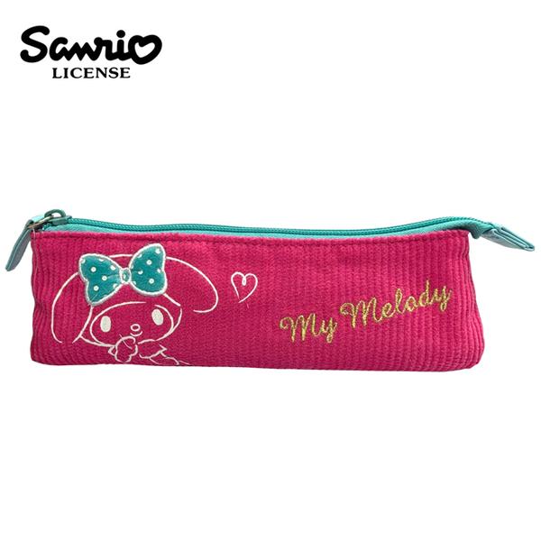 【日本正版】美樂蒂 燈芯絨 長型筆袋 鉛筆盒 筆袋 My Melody 三麗鷗 Sanrio - 418526