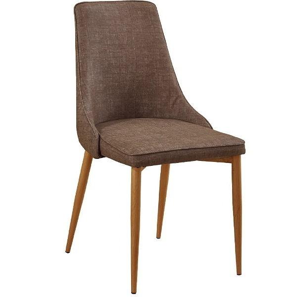 餐椅 SB-929-16 薇奇灰色皮鐵藝餐椅【大眾家居舘】