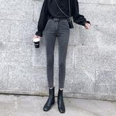 2020小腳褲高腰高彈鉛筆褲修身九分黑褲子S-XL碼