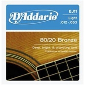【缺貨】D'Addario EJ11青銅民謠弦(12-53)【DAddario/進口弦/EJ-11】