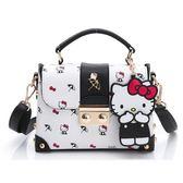 【Arnold Palmer包】Hello Kitty聯名 - 翻蓋書包定型小箱包 KIKI系列-黑色