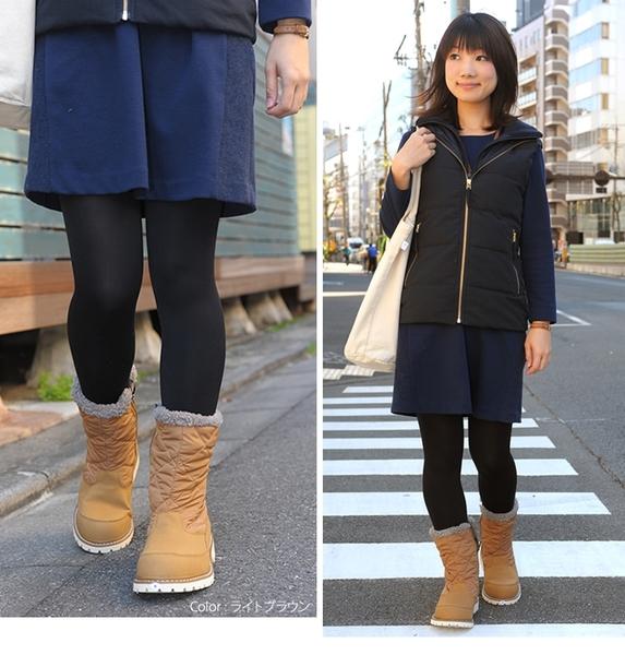 【日本Caravan 】女款 - 超保暖防雪水中筒雪靴 (共兩色) - SHC_7W