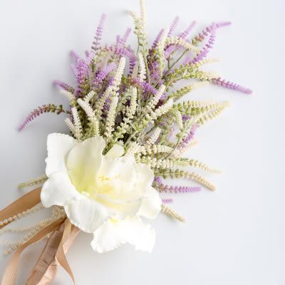 模擬花假花 套裝 花藝 客廳餐桌 裝飾花 花瓶捧花结婚花束 -bri01064