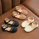 女童涼鞋 兒童女童涼鞋夏季新款軟底編織包頭女寶寶鞋時尚小女孩公主鞋-Ballet朵朵
