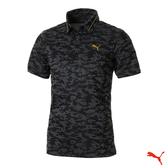Puma Golf 日本線 男版金線翻領迷彩POLO衫 Camo Jacquard 黑 923834 01