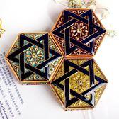 創意 珠寶戒指耳環耳釘首飾盒公主歐式正韓手飾品收納盒小號迷你月光節