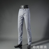 休閒褲男夏季款純棉舒爽薄修身微彈時尚青年長褲子韓版