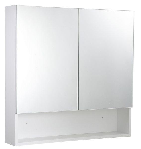 鏡櫃 鏡箱 鏡子 雙門對開 浴室 櫥櫃 收納櫃 寬70x高80x深15cm 好收納浴室不雜亂 非除霧鏡片!
