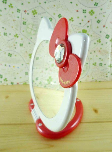 【震撼精品百貨】Hello Kitty 凱蒂貓-KITTY雙面摺疊鏡-紅色