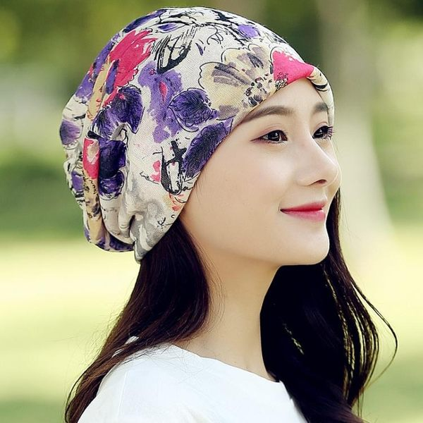 帽子女士春夏季薄款透氣月子帽睡帽春秋防風包頭帽光頭不透化療帽