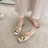 穆勒鞋法式包頭拖鞋女網美半拖鞋夏季【慢客生活】