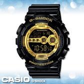 CASIO手錶專賣店 卡西歐 G-SHOCK GD-100GB-1D 電子錶 黑金狂潮  防水200米 抗磁  橡膠錶帶