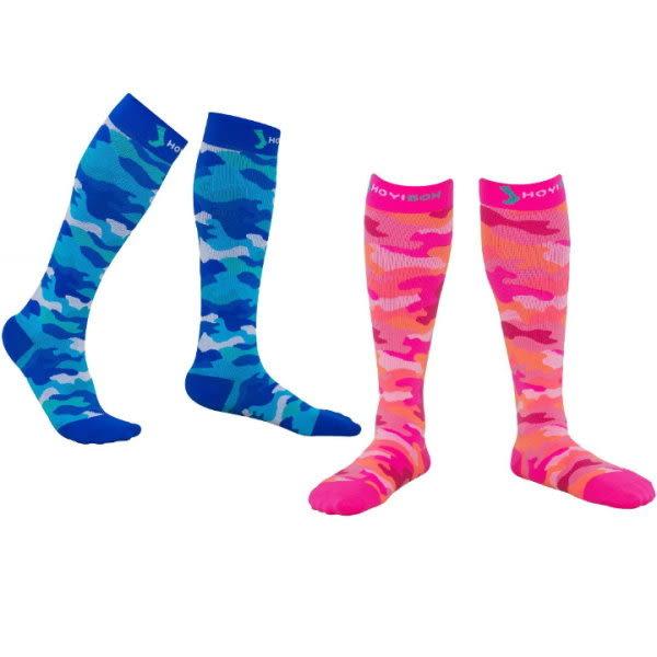 HOYISOX 迷彩運動襪兩入x2 運動伴侶組 20-30mmHg 抗菌除臭 路跑打球 快速恢復壓力襪 加壓壓縮襪