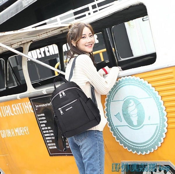 後背包 工廠清貨牛津布雙肩包女士百搭外貿出口余單尼龍布大容量多層背包 雙11 特惠