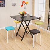 折疊桌餐桌家用小方桌可折疊吃飯桌戶外便攜擺攤桌宿舍簡易小桌子 LannaS IGO