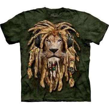 【摩達客】(預購) 美國進口 The Mountain DJ加滿獅 純棉環保短袖 T恤(10411045098a)