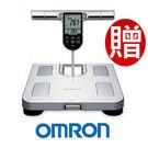 OMRON 歐姆龍體脂計 HBF-371(銀白色)-(贈可愛小熊皮尺+皮脂夾+專用酷黑提袋 )