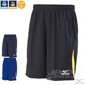 MIZUNO 美津濃 針織短褲 (黑*黃) 吸汗快乾 抗紫外線UPF50 休閒 運動 健身