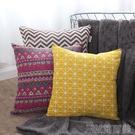 北歐棉麻抱枕沙發靠墊套靠背汽車辦公室椅子腰枕床頭靠枕芯可訂製 簡而美