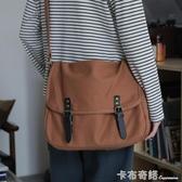 斜挎包女韓版日系復古大學生書包上課包布袋單肩包女帆布挎包 雙十二全館免運