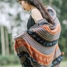 披肩 新款旅游披肩茶卡鹽湖兩用沙漠防曬文藝民族風拍照圍巾女冬季百搭 韓國時尚週