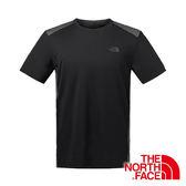 美國The North Face 男 短袖快排圓領 T恤『黑』吸濕排汗透氣衣 2SMF