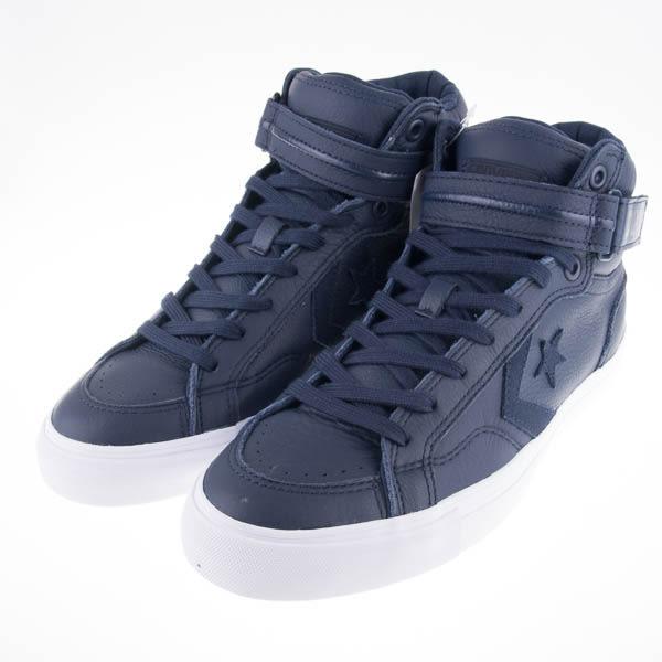 CONVERSE Pro Blaze Plus 高筒皮質休閒鞋-藍 153945C