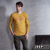 【JEEP】Wander Free品牌造型長袖TEE 蜂蜜黃  (合身版)