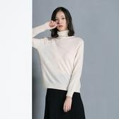 羊毛針織衫-高領純色套頭抗起球氣質女毛衣2色73uj4【巴黎精品】