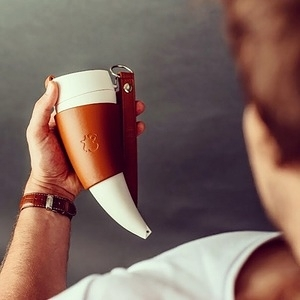 Goat Mug 真皮款12oz山羊角咖啡杯酒紅