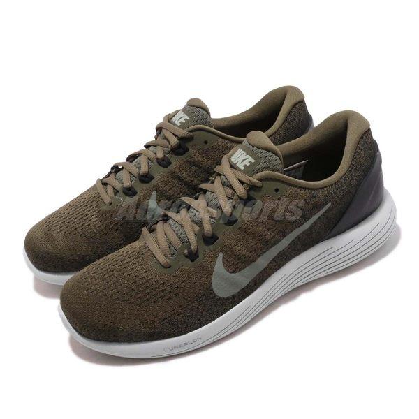【五折特賣】Nike 慢跑鞋 Lunarglide 9 綠 白 軍綠 舒適緩震 男鞋 運動鞋【PUMP306】 904715-200