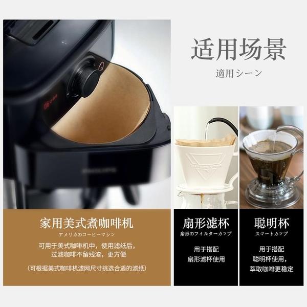 咖啡濾紙Kalita咖啡濾紙無漂白美式咖啡機手沖壺濾杯過濾紙 【全館免運】