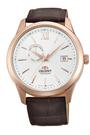 [Y21潮流精品] 新款!ORIENT 東方錶 Classic Design系列 日期顯示機械錶 玫瑰金色 皮帶款 FAL00004W