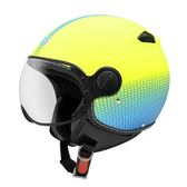 【東門城】ZEUS ZS210C DD82 消光螢光黃藍 3/4罩安全帽