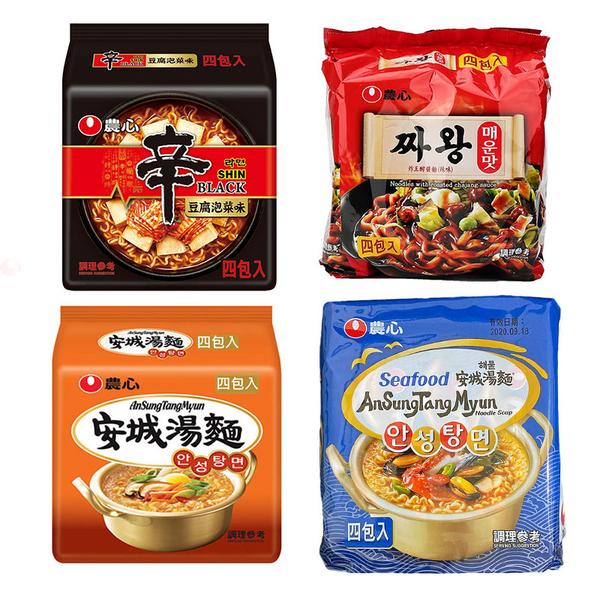 韓國 農心 辛拉麵 安城湯麵 激辛 泡菜 非油炸 袋裝 4入/5入 【庫奇小舖】