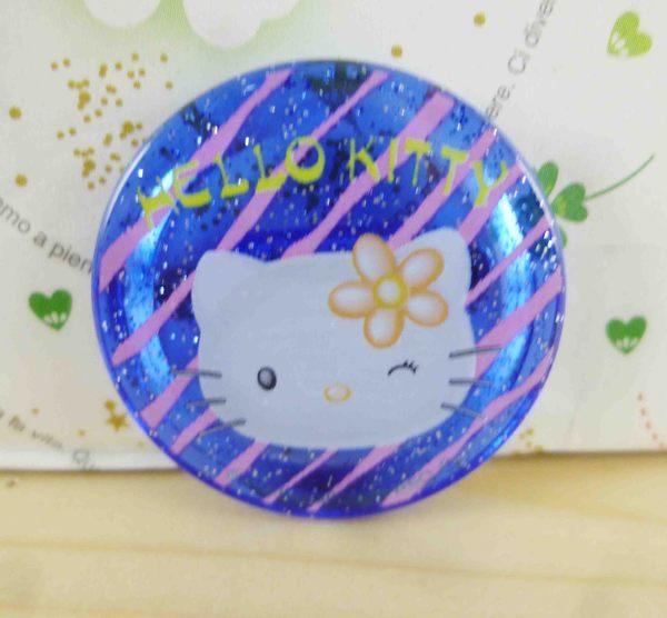 【震撼精品百貨】Hello Kitty 凱蒂貓~KITTY造型別針-圓造型-粉心