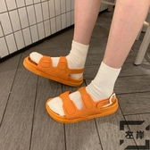 涼鞋女夏時尚海邊沙灘度假平底學生羅馬鞋【左岸男裝】