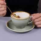馬克杯 咖啡杯套裝拉花拿鐵陶瓷意式濃縮復古奢華小精致的碟杯子 開春特惠